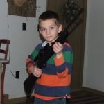 Landry holding Crosman 760 BB gun