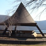 Pavillion on Raystown dam