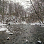 Steelhead fishing in the snow