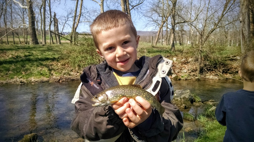 Camden with a Brook Trout